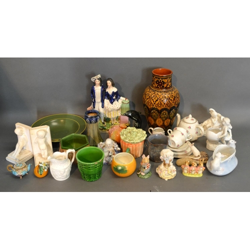 19 - Three Beswick Beatrix Potter Figures Together With A Small Collection Of Ceramics, to include a chil...