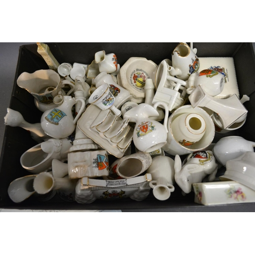 25 - A Collection Of Crested China To Include A Model Of The Clifton Suspension Bridge and other items of...