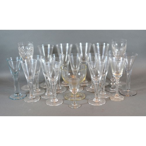 53 - A Collection of 19th Century Pedestal Glasses together with various other later glassware