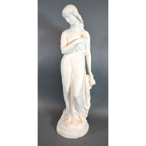 37 - A Copeland Parian Figure of Purity by Matthew Noble for the Ceramic and Crystal Palace Art Union, 44...