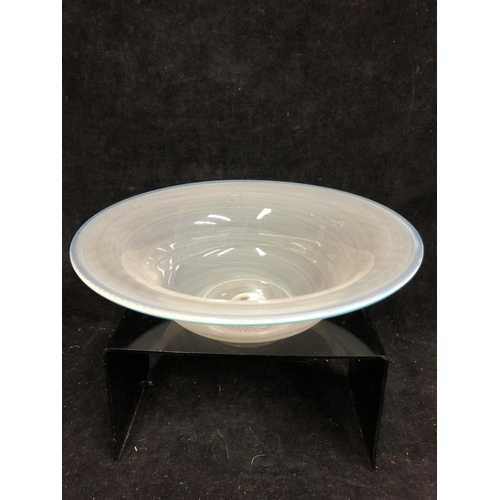 29 - Barovier & Tosso - A filigrana bowl, of cardinal hat form, the colourless body with finely spiraled ...