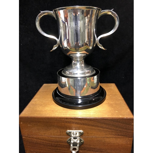 52 - A Victorian Goldsmiths & Silvermith's Company silver two handled trophy cup, of typical form, London...