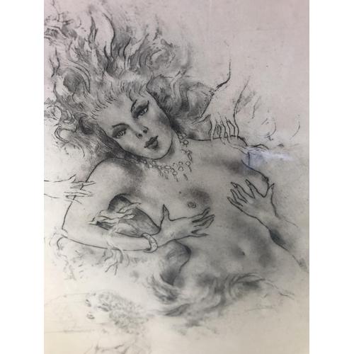 12 - Edouard Chimot - Erotic etching from Les Soupers de Daphne, Editions Eryx, Paris, 1941, 26 x 21cm fr...