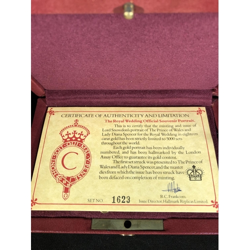 34 - Halmark Replicas Limited, The Marriage of the Price of Wales to Lady Diana Spencer - An 18ct gold st...