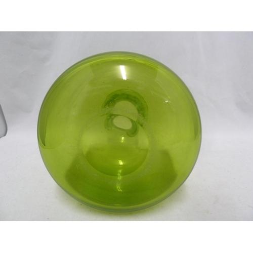 49 - Per Lutkin /Christer Holmgren for Holmegaard - a Majgrøn / May Green glass bottle vase, engraved Hol...