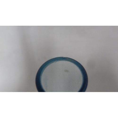 57 - Arthur Percy for Gullaskruf - an electric blue glass bottle vase, Sweden, Mid Century, 26cm high...