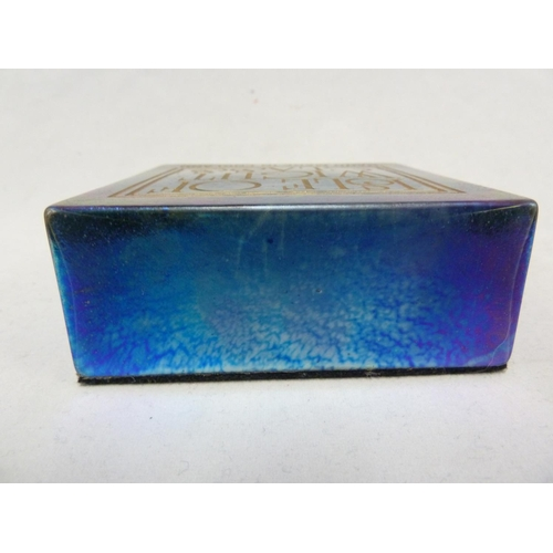2 - Timothy Harris for Isle of Wight Glass - an advertising / shop display glass block, of iridescent bu...