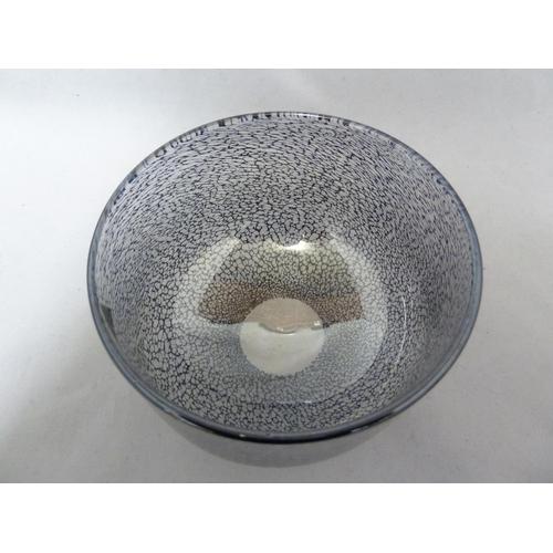 1 - Isle of Wight Glass - Bon Bon range - a large Sherbert Black bowl, original label, 14.5cm diam...