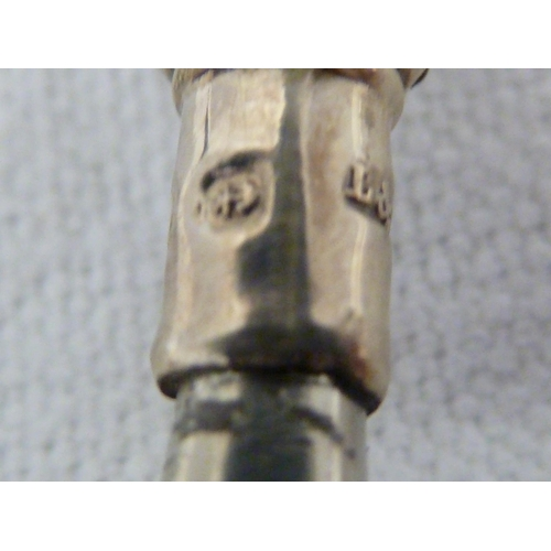 18 - A Hancocks & Co silver seal top spoon, in 17th Century style, the leopard head stamped to the bowl o...