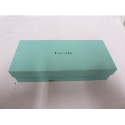 32 - Tiffany & Co - a 925 marked T Clip pen and pencil set, in original presentation box and outer box, p...