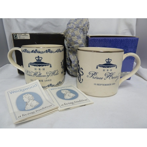 48 - Richard Guyatt for Wedgwood - Two limited edition commemorative large size mugs, for: Prince William...