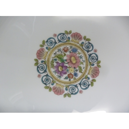 69 - Wedgwood - a Runnymede pattern porcelain part dinner, tea and coffee service, comprising: three larg...