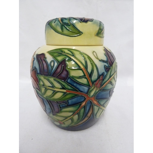143 - Philip Gibson for Moorcroft Pottery - A Simeon pattern ginger jar and cover, issued 1999, inscribed ...
