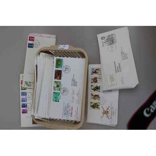 10 - Carrier bag of GB first day covers, mostly fine...