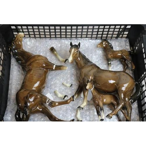 24 - Four Beswick Horses (please examine)....