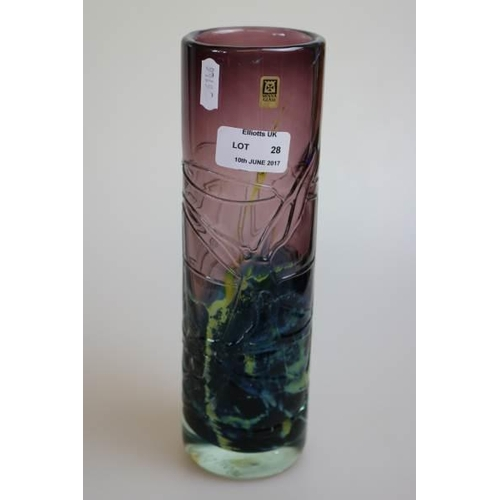 28 - A Mdina glass vase....