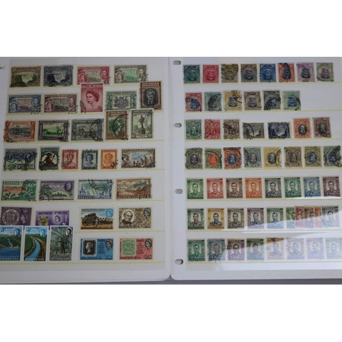 4 - Southern Rhodesia & Rhodesia 1924 -1968 131 stamps and 2 miniature sheets including 1924 1/2d to 5s ...