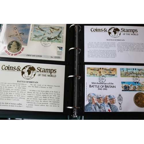 14 - Collections/Mixed lots Album of world coin covers...