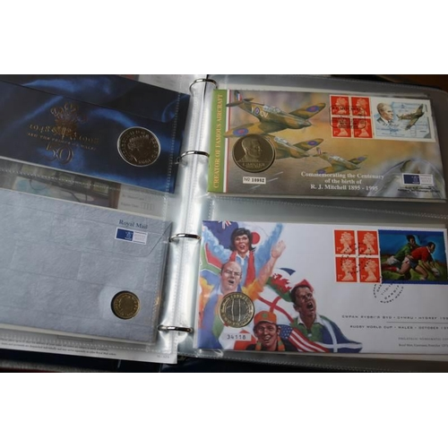 16 - GB Collections Album of GB coin covers...
