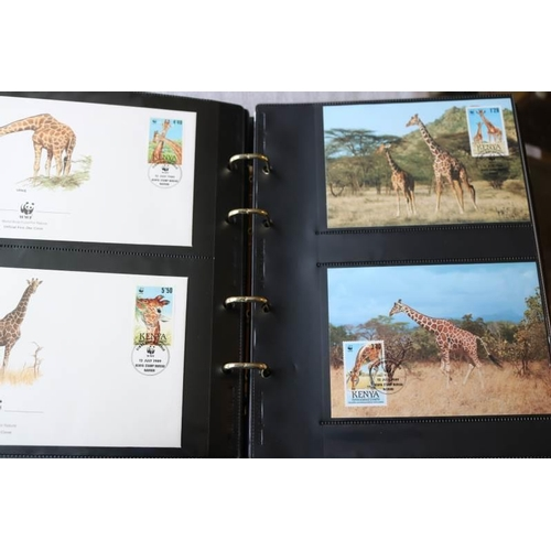 17 - Collections/Mixed Lots World Wildlife Fund stamps and covers in album very attractive...