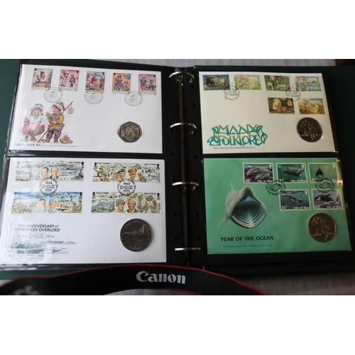 18 - Collections/Mixed lots Album of world coin covers...