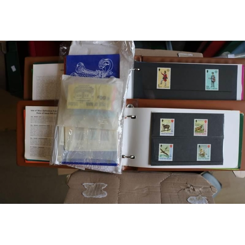 27 - Isle of Man in a carton including unmounted mint to £2, Stamp booklets and FDC plenty to sort...