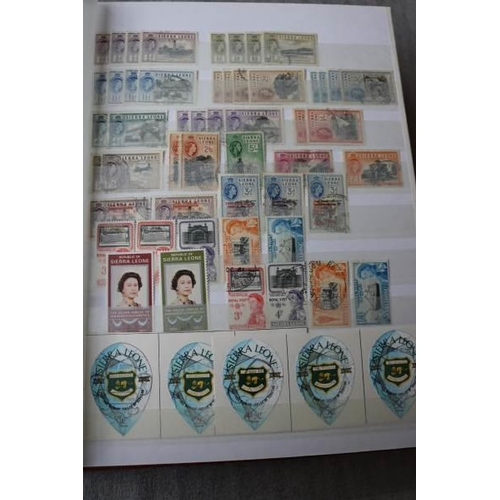 4 - Sierra Leone 1859-1982 A stockbook of mint and used with early issues to George V plenty of Queen El...