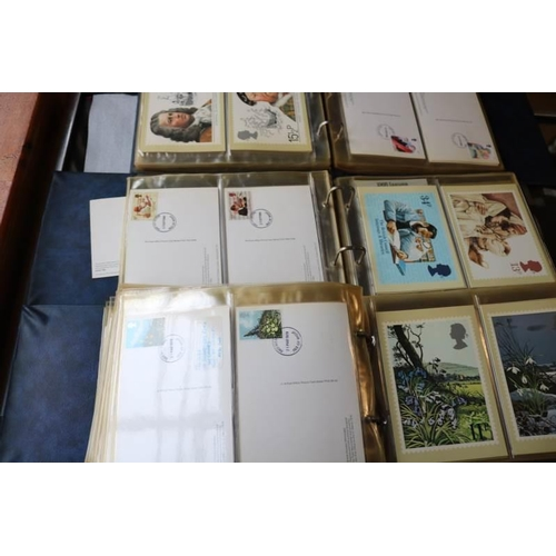 5 - Three albums of British Post Office picture postcards 1970's and 80's...