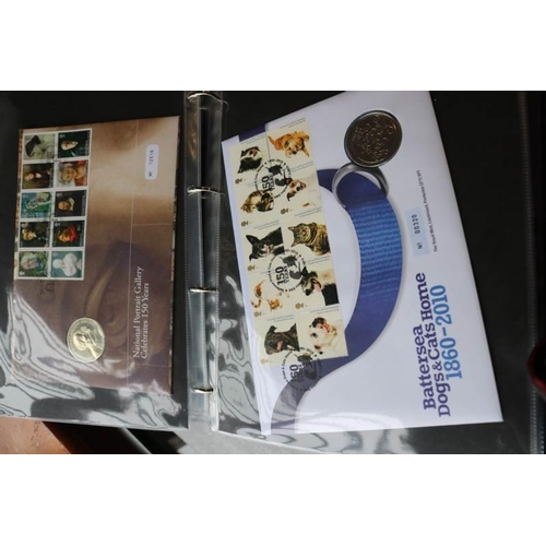 6 - GB Collections Albums of 29 coin covers 2005-2010 period clean lot...