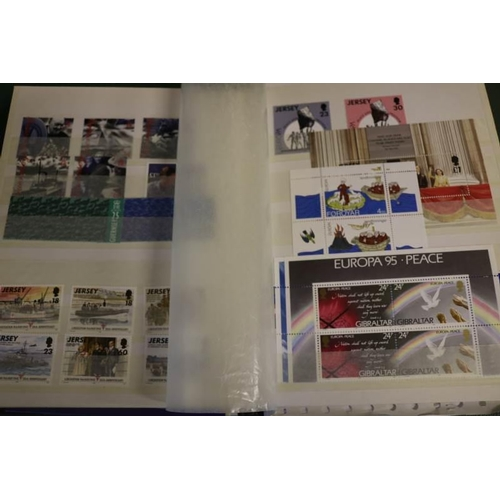 10 - Modern um assortment in stockbook incl. Gibraltar, Channel Islands etc...