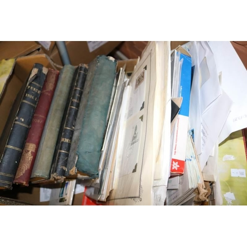 15 - A box of stamps, covers etc together with five sets of bound copies of Punch magazines 1890-1908...