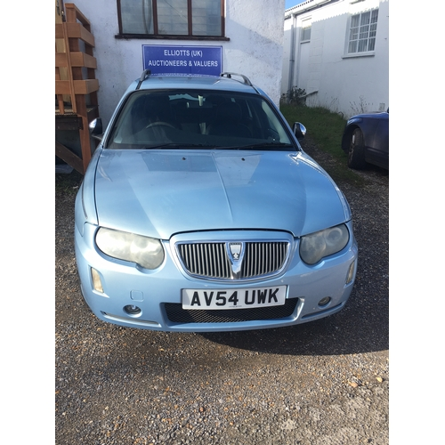 1 - Rover 75, 2 Litre CDTDI, 5 door hatchback estate car in pale blue finish, AV54 UWK manual transmissi...