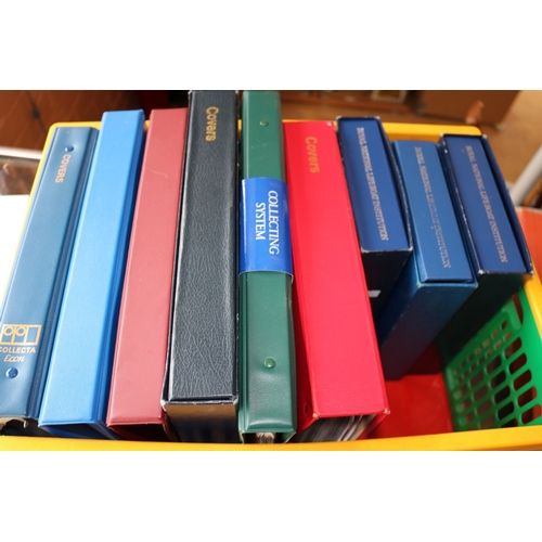 15 - Crate of cover albums many railway and lifeboat related...