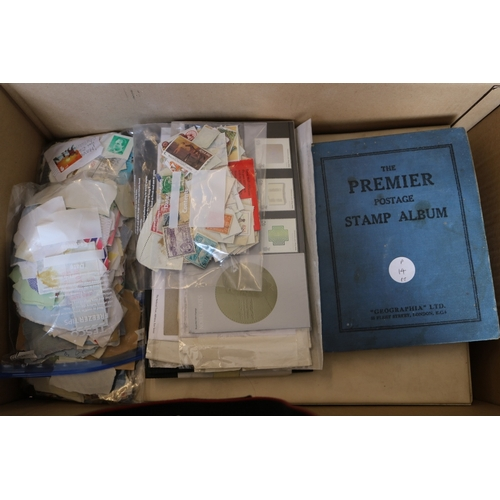 11 - Collections/Mixed Lots Carton including well filled old album, album of covers and some loose stamps...