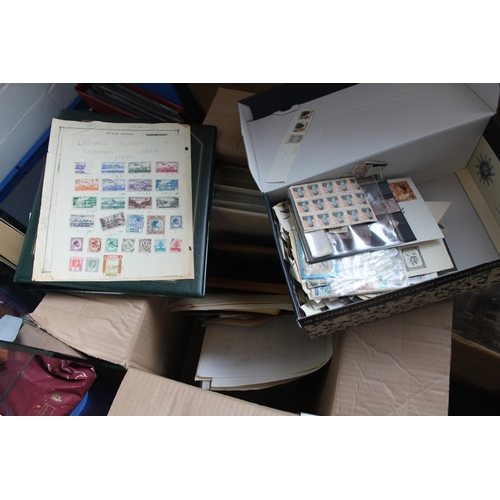 14 - Large carton of albums and loose stamps...