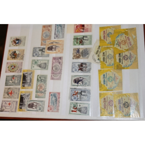 18 - A stockbook of mint and used Sierra Leone...