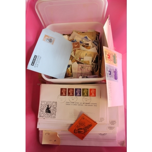 33 - Estate lot in crate, noted large packet of mint GB...