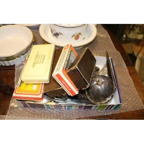 53 - Quantity of assorted flatware and cutlery together with vintage darts sets etc...
