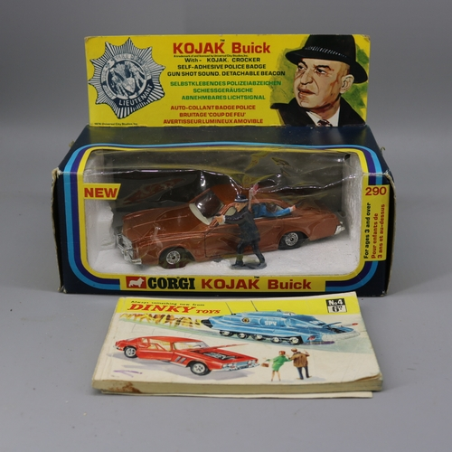 4 - Corgi Kojak Buick model 290 with original packaging, car and figures and a loose Dinky toys no 4 cat...