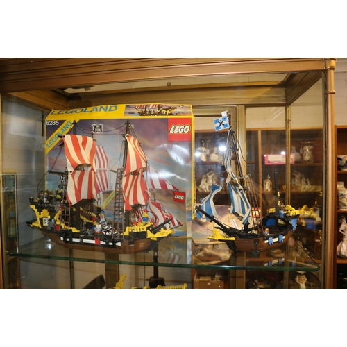 6 - A Lego set 6285 a pirate ship together with 6274 not checked for completeness but both models are ma...