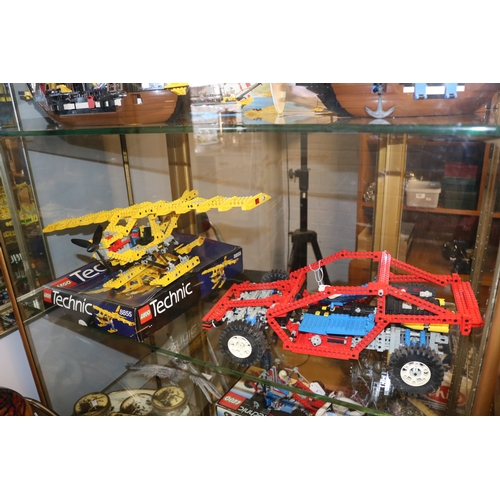 7 - Lego technic 8855 plus box together with Lego 8832 with instruction manual. Both are made not check ...