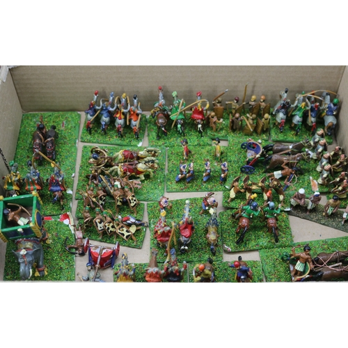 9 - Little tray of diecast game? hand painted figures....