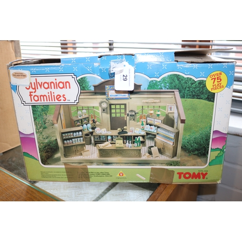 29 - Sylvanian families vintage village store with accessories....
