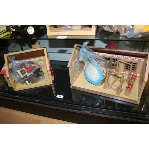 34 - Sylvanian families nursery and school with accessories....