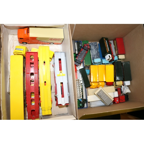 42 - Box of diecast lorries including car transporters....