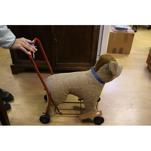 27F - A L. Bros Ltd Tri-ang pushalong dog...