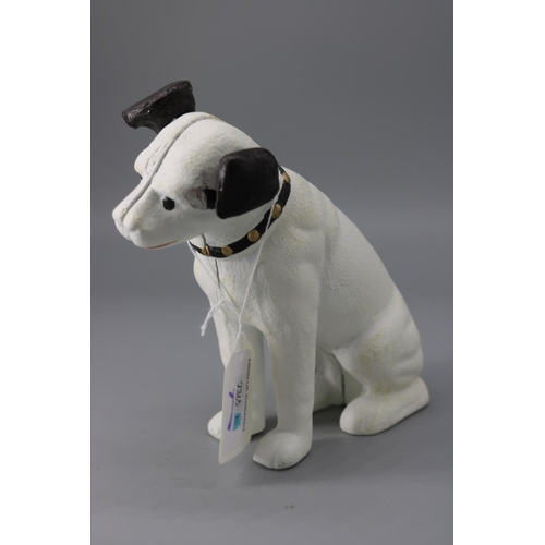 64 - Cast iron dog....