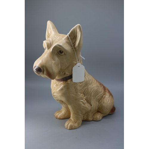70 - Sylvac large terrier dog approx 11