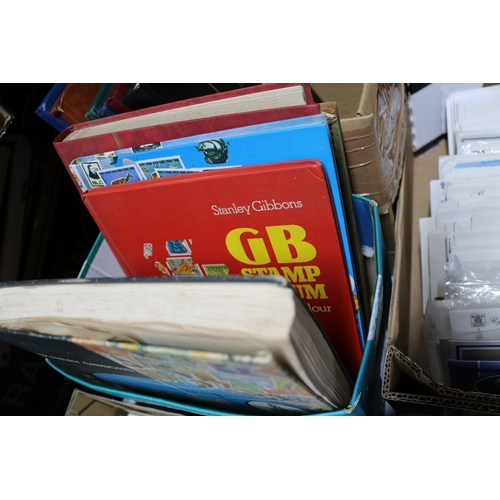 8 - Carton of albums and some loose stamps...