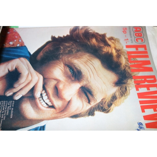 39 - Film Review magazine, a complete run from January 1971 through to December 1973 together with two lo...